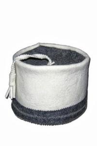 Шапка для сауны ФЕСКА светло-серый войлок