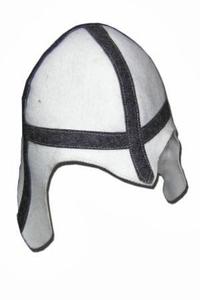 Шапка для сауны РЫЦАРЬ светло-серый войлок