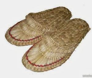 Лапти плетеные камыш
