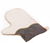 Рукавичка для сауны  (комбинированный войлок) - Волна