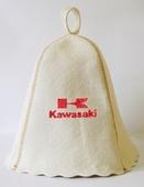 """Шапка для сауны (светло-серый войлок) """"Kawasaki"""""""