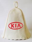 """Шапка для сауны (светло-серый войлок) """"KIA"""""""