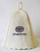 """Шапка для сауны (светло-серый войлок) """"Mazda"""""""