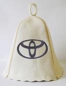 """Шапка для сауны (светло-серый войлок) """"Toyota"""""""
