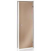 Двери для хаммама ANDRES прозрачная бронза 80х210