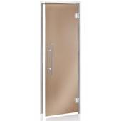 Двери для хаммама ANDRES PREMIUM прозрачная бронза 80/210