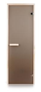 Двери для сауны Greus Classik цвет матовая бронза 70х190