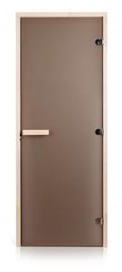 Двери для сауны Greus Classik цвет матовая бронза 80х200