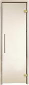 Двери для сауны Greus Premium цвет бронза 70х190