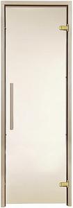 Двери для сауны Greus Premium цвет бронза 70х200