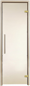 Двери для сауны Greus Premium цвет матовая бронза 70х190
