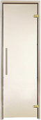 Двери для сауны Greus Premium цвет матовая бронза 70х200