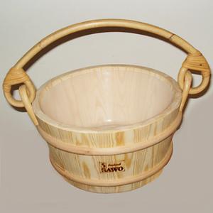 Ведро деревянное для бани Sawo 341-Р, 4 л